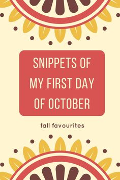 Yes it is now finally officially autumn. Probably my very favaourite season