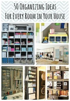 It's time to get organized! I've come across lots of great ways to organize. Here is a great list of easy ways to organize in all the chaotic spaces in your hou