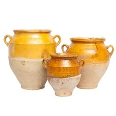 #PDFallGiveaway Our confit pots descend from Biarritz, France.  In the mid to late 1800s, these pots were used to store duck confit during long voyages across the ocean. The ceramic pieces were stored in the bottom of the ship to ensure the food stayed cold for many weeks. Today, we love to use our rare collection of confit pots as decorative accents throughout the home.