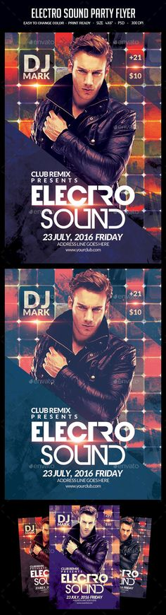 Electro Sound Party Flyer Template PSD. Download here: https://graphicriver.net/item/electro-sound-party-flyer/17396518?ref=ksioks