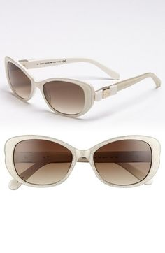 kate spade new york 'chands' 53mm sunglasses available at #Nordstrom -- they glitter!