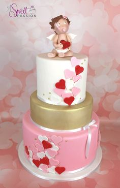 Valentine's Day Baby Shower Cake | A Sweet Passion