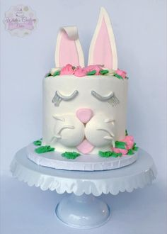 Easter Bunny - Cake by Sabrina - White's Custom Cakes Cake Recipes For Beginners, Cake Recipes From Scratch, Homemade Cake Recipes, Best Cake Recipes, Easter Bunny Cake, Bunny Cakes, Beautiful Cakes, Amazing Cakes, Spring Cake