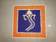 Ganesh Ji Ki Rangoli (NEW) - YouTube                                                                                                                                                                                 More