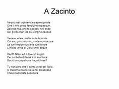 A Zacinto -Foscolo