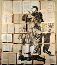 Terrific use of old books.