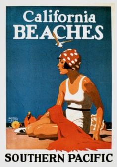 Vintage Poster - California Beaches