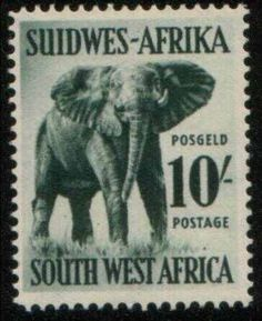 Stamp: African Elephant (Loxodonta africana) (South-West Africa) (Animals) Mi:NA-SW 248 Elephant Art, African Elephant, Africa Quotes, Union Of South Africa, Africa Tattoos, Vintage Stamps, Gentle Giant, Stamp Collecting, West Africa
