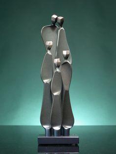 Family with 2 Children by Boris Kramer - Tall (Metal Sculpture) Metal Sculpture Artists, Modern Sculpture, Abstract Sculpture, Wood Sculpture, Bronze Sculpture, Sculpture Rodin, Sculpture Projects, Sculpture Ideas, Metal Tree Wall Art
