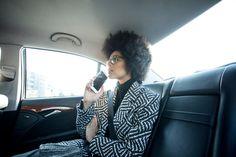 Taxi - actress Jane Cirwa - styled by Cordula Schill - photography by Patrizia Doubek