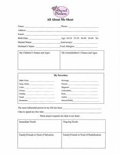This is a picture of Inventive Printable Secret Sister Questionnaire
