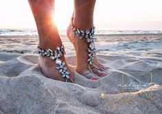 Beach Wedding Barefoot Sandal,Bridal Crystal Barefoot Sandals,Boho Slave Anklet,Wedding Anklet,Bridesmaid Accessories,MABEL design