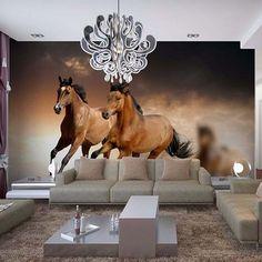 Brown Horses Photo Wallpaper Mural Part 33