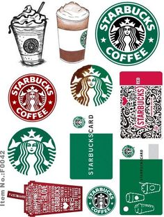 Starbucks logo and rewards card printable Starbucks Logo, Starbucks Crafts, Starbucks Coffee, Coffee Cup, Sticker Printable, Printable Planner, Planner Stickers, Printables, Free Printable