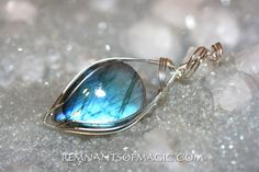 Wire Wrapped pendants and chains -  Remnants of Magic