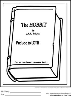 the hobbit coloring pages 1