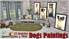 Sims 4 CC's - The Best: Dogs Paintings by Annett85