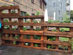 Modern Wooden Pallet Fences Pallet Planter- would love this for the bunnies in the backyard. Could put lettuce in them on the lower level!Pallet Planter- would love this for the bunnies in the backyard. Could put lettuce in them on the lower level!