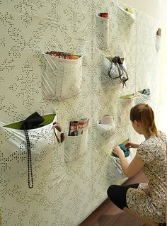 Use your walls wisely!  Must think of DIY version of Maja Ganszyniec's Pocket Wall