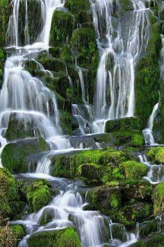 At the Brides Veil Waterfall in Isle of Skye, Scotland. #traveldestinationsireland
