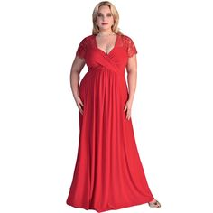 2016 Large Size Clothing Women Plus Size Maxi Dress Lace Sleeve Formal Gown Long Party Dress Red Black Vestidos XXL XXXL E61025