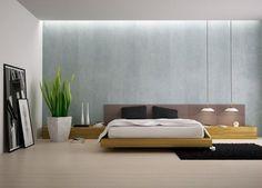 Una pared de tu color favorito + una decoración minimalista = perfección. | 22 Fotos de habitaciones minimalistas que amarás
