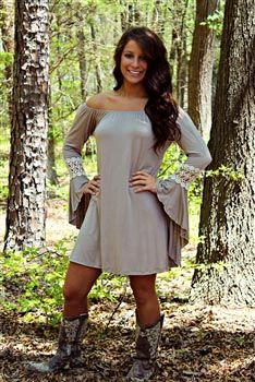 Marilyn Tunic Dress - Taupe