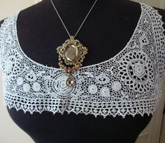 1900's Antique Cotton Off White Color Collar by AnnasDream on Etsy