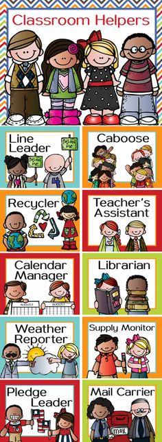Classroom JOB clip chart featuring the Melonheadz kids Visit ARTrageous Fun on Teachers Pay Teachers and go under the category Melonheadz on the left