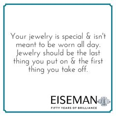 Eiseman Jewels Sparkling Suggestion! | Eiseman Bridal | Engagement Ring | Diamonds | Jewelry | Tips
