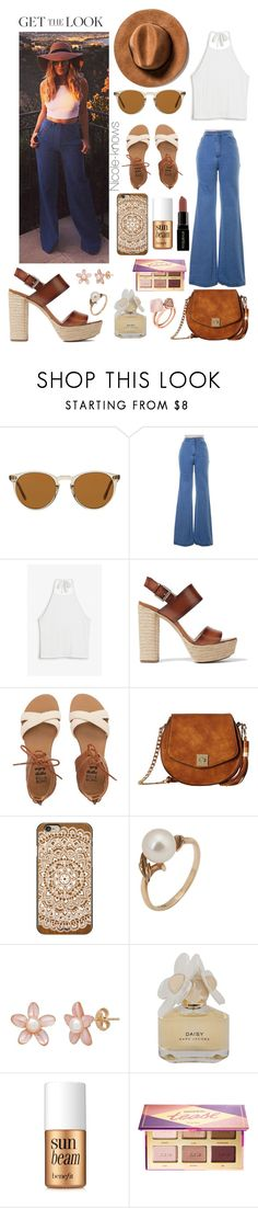 """Untitled #76"" by nicole-knows ❤ liked on Polyvore featuring Oliver Peoples, Monki, Michael Kors, Billabong, Gabriella Rocha, Casetify, Mikimoto, Marc by Marc Jacobs, Benefit and Smashbox"