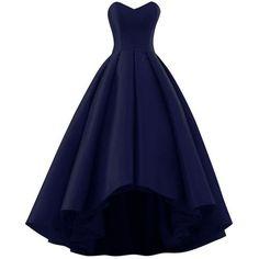 Sweetheart Neck Long Satin Prom Dresses Floor Length