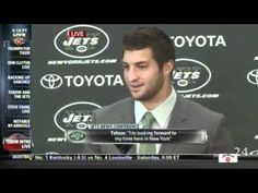 Tebow is excited! Haha 44 times in one press conference