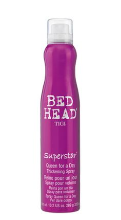 Use this also as a root boost spray to add more volume when blowdrying: Bed Head by TIGI | Products | Styling | Thickening Volumizing | Superstar Queen For A Day