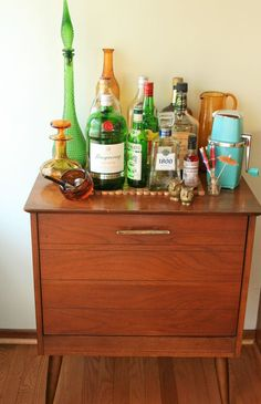liquor cabinet holds records really