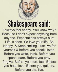 The wisdom of Shakespeare - wisdom quotes Wise Quotes, Words Quotes, Great Quotes, Quotes To Live By, Motivational Quotes, Funny Quotes, Wisdom Sayings, Awesome Quotes, Deep Life Quotes