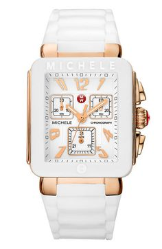 MICHELE 'Park Jelly Bean' Watch in rose gold/white  #Nordstrom