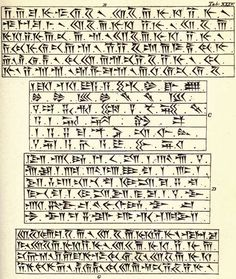"writing-system: "" Specimen of the three classes of Cuneiform characters. B, G — old Persian (class I); C — Babylonian-Assyrian (class III); D — Neo-Elamitic (class II) Source "" Ancient Alphabets, Ancient Scripts, Pain Relief Spray, Natural Pain Relief, Word Alternative, Alphabet Writing, Achaemenid, Ancient Persian, Ancient Near East"