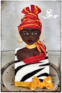 Lady Lily - Cake by Mademoiselle fait des gâteaux Pretty Cakes, Beautiful Cakes, Amazing Cakes, Amazing Art, Unique Cakes, Creative Cakes, Africa Cake, African Wedding Cakes, Bolo Paris