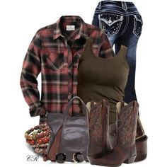 Country Clothing by colierollers on Polyvore featuring VILA, Ariat, Francesco Biasia, Kate Spade, Diesel and country