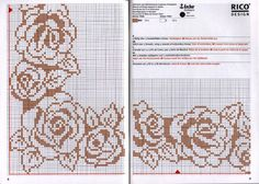 monochrome roses border