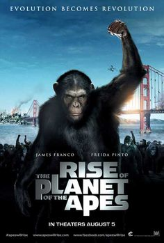 CRITIQUE 'La Planète des Singes : Les origines' (Rise of the Planet of the Apes) de Rupert Wyatt en salles le 10 août avec James Franco, Freida Pinto, John Lithgow, Brian Cox, Tom Felton. Fiction Movies, Sci Fi Movies, Hd Movies, Movies To Watch, Movies Online, Science Fiction, Movies Free, Cult Movies, Play Online