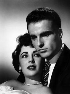 Liz Taylor et Montgomery Cliff