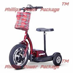 EWheels  EW18 Stand  Ride Scooter  3Wheel  Red  PHILLIPS POWER PACKAGE TM  TO 500 VALUE *** Locate the offer simply by clicking the VISIT button