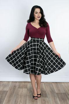d93d4d85bd6e9b Haute Circle Skirt- Hip to be Square Black Full Circle Skirts, Vintage  Inspired Fashion