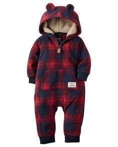 Baby Boy Hooded Fleece Jumpsuit | Carters.com