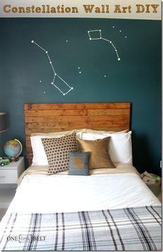 ONE little MOMMA: Constellation Wall Art- DIY Big Dipper and Little Dipper
