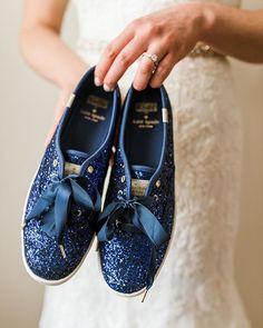 fa830e133e kate spade blue glitter shoes Bride Sneakers