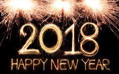 Télécharger fonds d'écran Bonne et heureuse Année 2018, feu d'artifice, 4k, Noël 2018, la Nouvelle Année 2018, noël, Noël