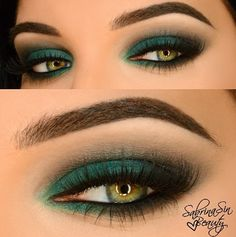 Green Shadow -another good example of a hooded eye look that works #hoodedeyes